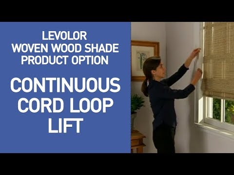 Levolor Bamboo Shades with Continuous Cord Loop Lift Demo