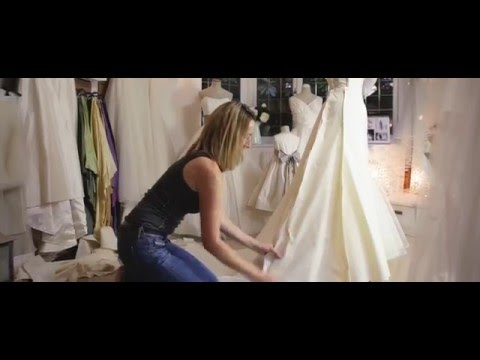 How a wedding dress is made by Caroline Arthur