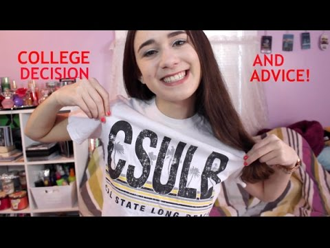College Application Advice + MY DECISION!!