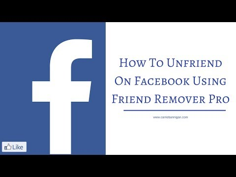 How To Unfriend On Facebook Using Friend Remover Pro