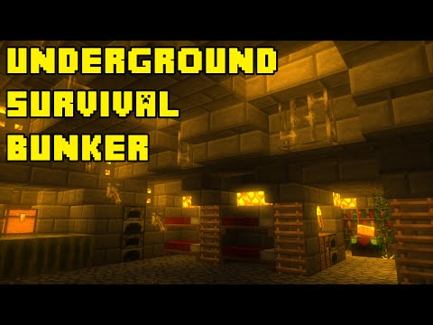 Minecraft: Advanced Underground Survival Bunker Tutorial Xbox/PE/PC/PS3/PS4
