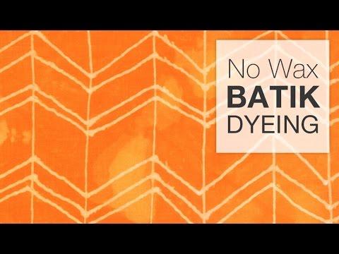 How to Dye Fabric - No-Wax Batik Technique