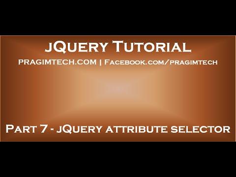 jQuery attribute selector