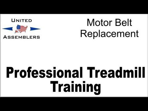 Treadmill motor belt replacement
