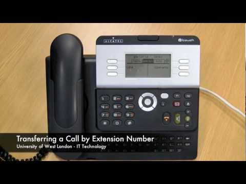 Transferring a Call by Extension Number 4028