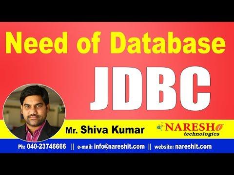 JDBC Tutorials | Need of Database  | Advanced Java | Mr.Shiva Kumar