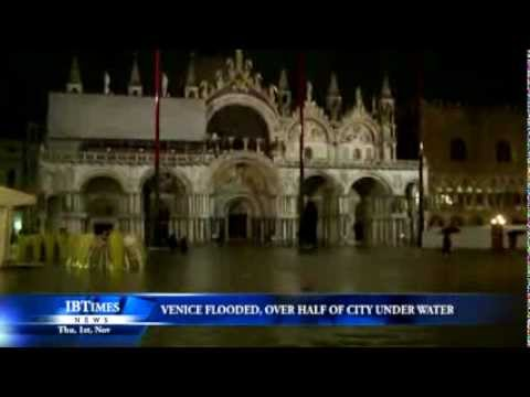 Venice flooded, over half of city under water