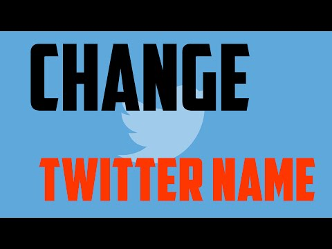 How to Change Twitter Name and @username Easily