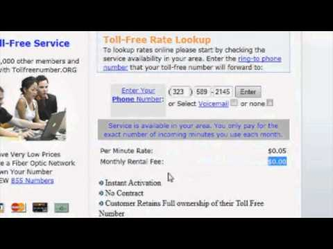 How To Get Your Own Toll Free Numbers / 800 Numbers with No Hardware