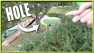 THIS IS THE CRAZIEST AND LONGEST MINI GOLF HOLE WE HAVE EVER SEEN! | Brooks Holt