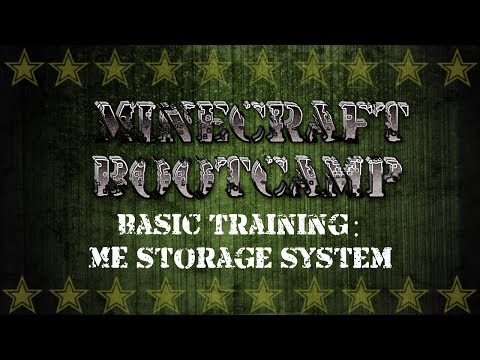 Minecraft Bootcamp | Basic Training | ME Storage System