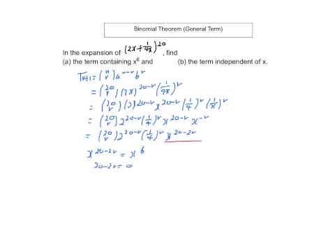 Binomial Theorem (General Term 1)