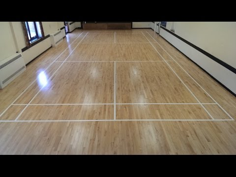 How To - Tape and Paint A Badminton Court, Part 2