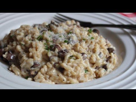 Baked Mushroom Risotto -
