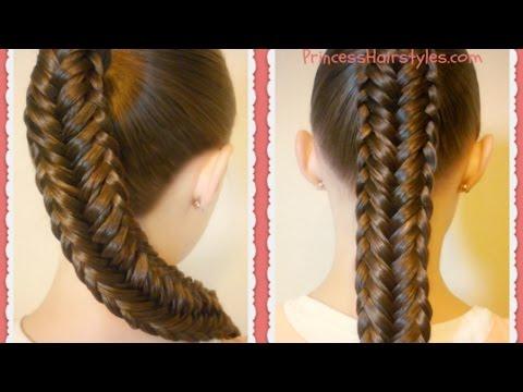 Twisted Edge Fishtail Braid, Hair Tutorial