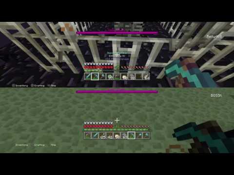 Minecraft Killing The Ender dragon