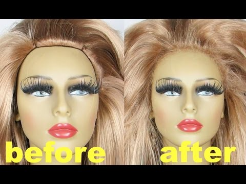 DIY NATURAL HAIRLINE LIKE A PRO LACE FRONT WIG FOR DRAG QUEEN TUTORIAL