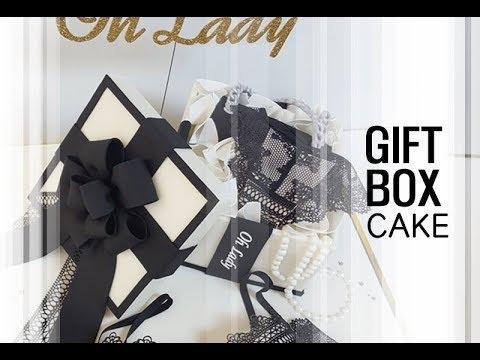gift box cake 선물 상자 케이크만들기