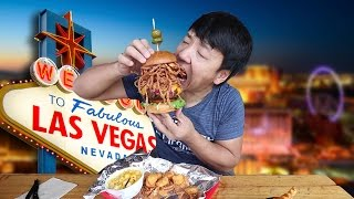 ALL YOU CAN EAT BBQ in Las Vegas! BIGGEST Burger EVER!