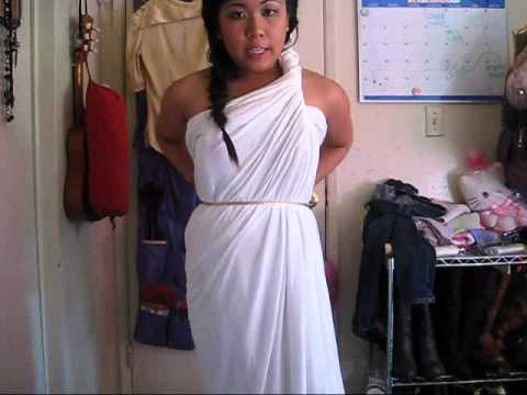 2 MINUTES GREEK GODDESS COSTUME (NO SEWING)