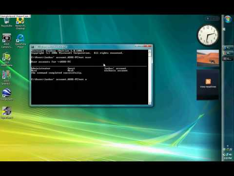 how to change the administrators password on your PC on vista