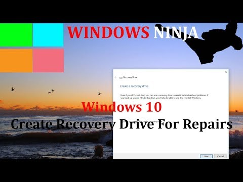 Windows 10 - Create Recovery USB For Repairs