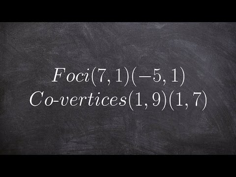 Write the equation for an ellipse give foci and co vertices
