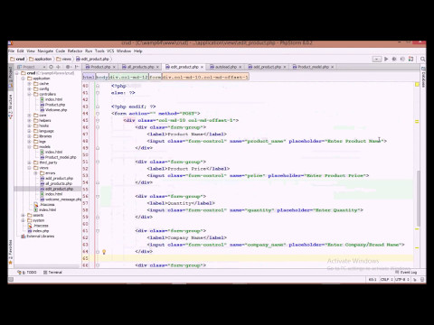 Codeigniter PHP CRUD Tutorial (3/4) - Edit Database Records using Form