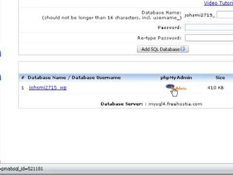 Import (restore) a MySQL database