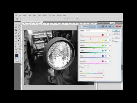 Adobe Photoshop CS4 Black and White Tool