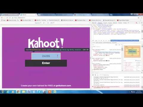 how to hack a free kahoot code