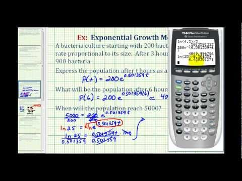 Ex:  Exponential Growth Function - Bacterial Growth