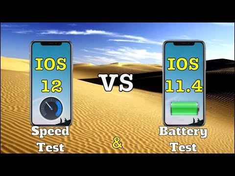 iPhone X IOS 12 vs 11.4 speed test with battery test