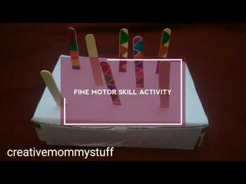 Fine motor skill activity + shape sorting for toddlers