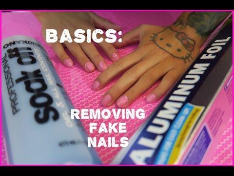 BASICS: How to Remove Fake Nails