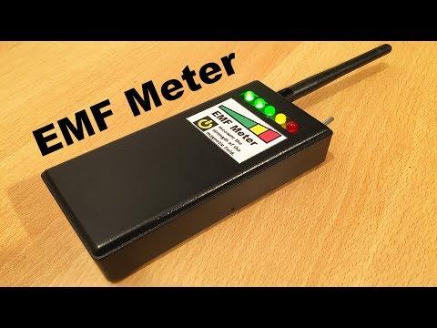 EMF Meter/Detector (DIY) - Electromagnetic fields meter - By STE