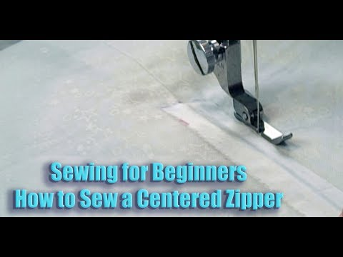 Sewing for Beginners:  How to Sew a Centered Zipper