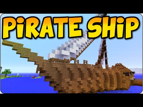 Minecraft PS3, PS4 Pirate Ship Let's Build Live Part 1 - Tutorial Showcase- Multiplayer Gameplay
