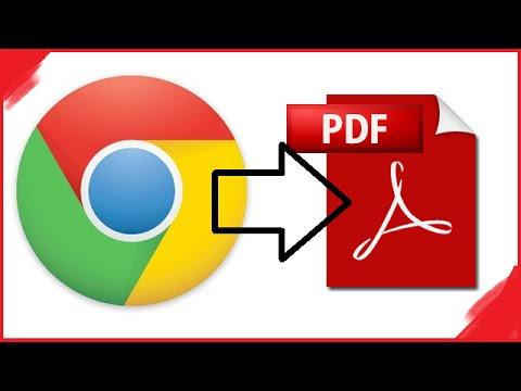 Saving webpages as PDF files (Chrome)