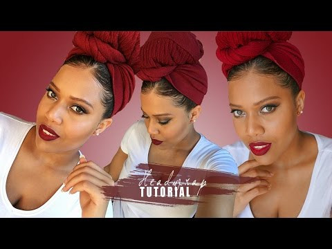 How To Headwrap - I DONT HAVE A SCARF LET ME HEADWRAP WITH LEGGINGS TUTORIAL // Samantha Pollack