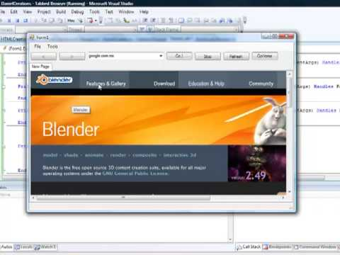 Visual Basic 2008, 2010 - How to make a tabbed web browser (Advanced Features)