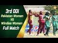 3rd ODI Pakistan Women Vs Windies Women At ICC Cricket Academy Ground Dubai Full Match PCB
