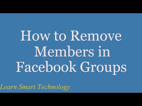 How to Remove Members in Facebook Groups