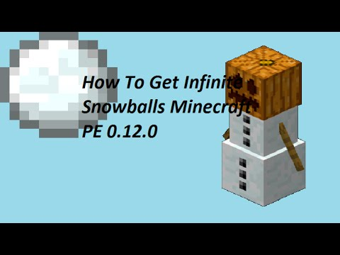 How To Get Unlimited Snowballs (Minecraft PE 0.12.0)