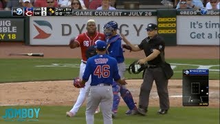Puig goes after Strop after getting hit by a pitch, a breakdown