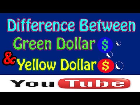 Full Concept Of : Green Dollar Sign & Yellow Dollar Sign - In Terms Of Youtube