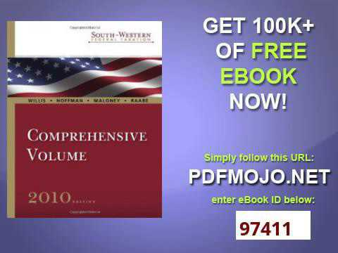 South Western Federal Taxation 2010 Comprehensive Volume with TaxCut® Tax Preparation Software C