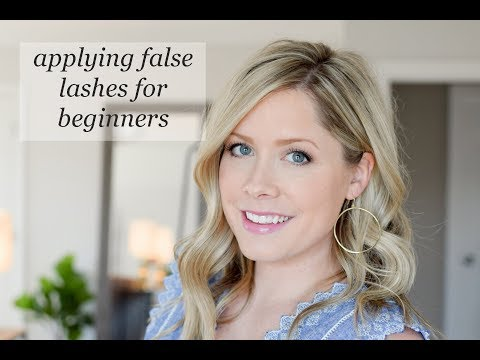 How to apply false lashes for beginners!