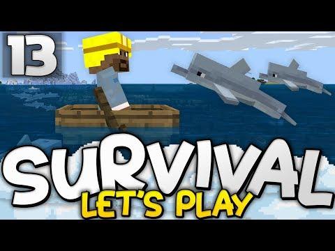 EXPLORING UPDATE AQUATIC! - Survival Let's Play Ep. 13 - Minecraft Bedrock (PE W10 XB1)