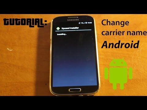 Tutorial: How to change carrier name on android